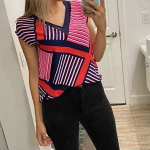 Express colorful blouse size Small